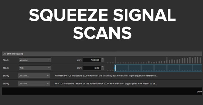 Squeeze Signal Scans